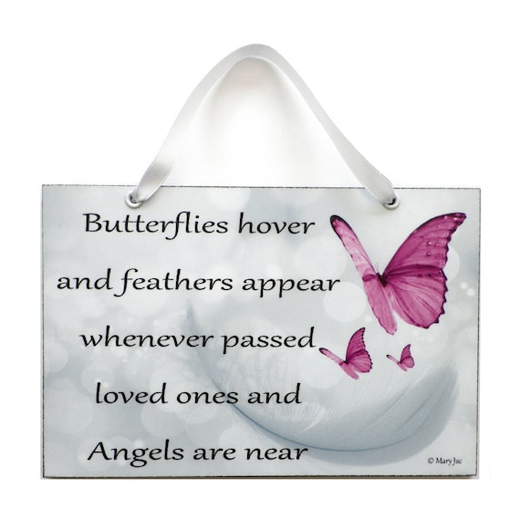 Angel Quote Butterflies Hover And Feathers Appear Etsy