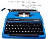 Blue Remington Typewriter...