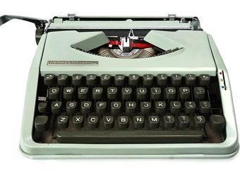 Hermes Baby Typewriter 1960s Working typewriter, Manual Typewriter, portable typewriter in Sea Green Color