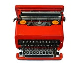 Red typewriter, Olivetti ...