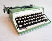 Green Typewriter. Remingt...
