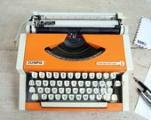 Retro Orange typewriter, ...