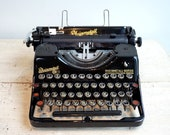 Vintage Black Typewriter,...