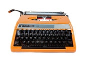 Orange Typewriter. 1970s ...