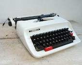 White Hermes Typewriter f...