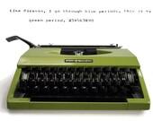 Green Typewriter, Portabl...