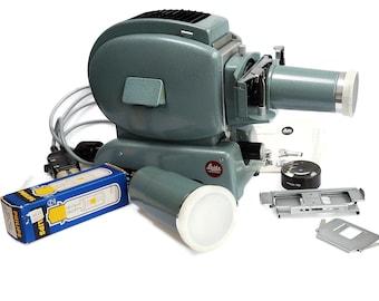 Leitz Wetzlar Prado 500 Film and Slide Projector 1950's projector, retro slide projector in working condition.