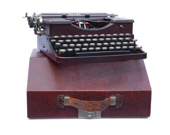 Royal P Typewriter 1920's Antique Typewriter. Working Typewriter. Rare Burgundy Red Color, Made in the USA