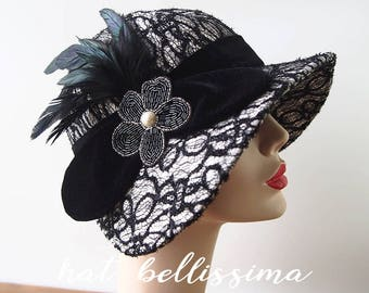 SALE 1920 s Hat Vintage Style hat winter Hats hatbellissima ladies hats  millinery hats cloche Hats 0988f47b944
