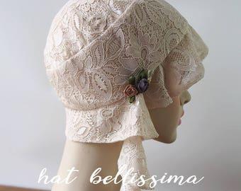 SALE 1920s Cloche Hat Lace fabric Vintage Style hat hatbellissima Summer  Hats 940b28f3871