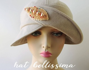 SALE 1920 s Hat Vintage Style hat winter Hats hatbellissima ladies hats  millinery hats cloche Hats wool hats 3c7379daee2