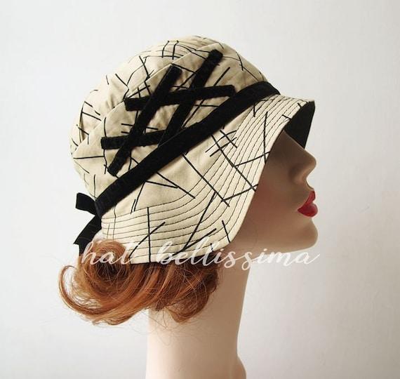 SALE khaki 1920 s Style cloche hat Vintage Style hat  69670878fca
