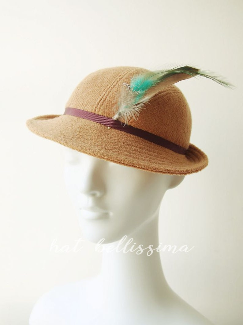 1930s Style Hats | Buy 30s Ladies Hats 1930s Hat Vintage Style hat winter Hats hatbellissima ladies hats millinery wool hats $57.00 AT vintagedancer.com
