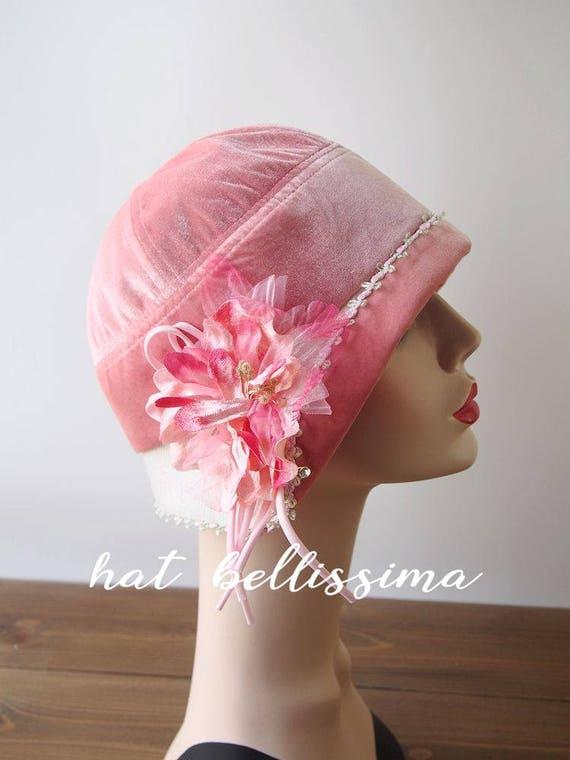 60ab2c4150f SALE pink 1920 s Hat Vintage Style hat winter Hats