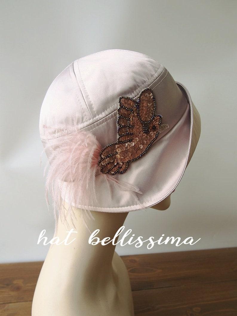 1a397b58eae SALE pink 1920 s Hat Vintage Style hat summer Hats
