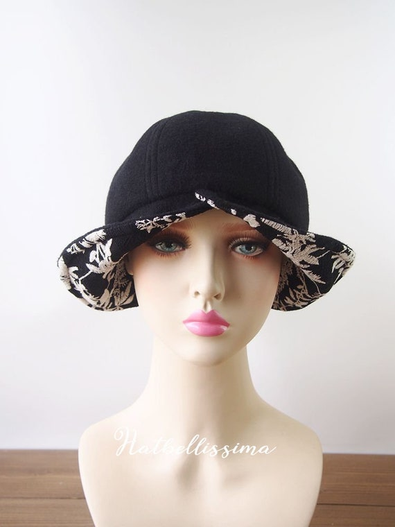245feab1f75 SALE 1920 s Cloche Hat Vintage Style hat winter Hats