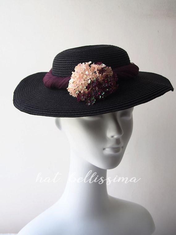 SALE 1950 s 1960 s hat Vintage Style straw hat Summer  970a375daef
