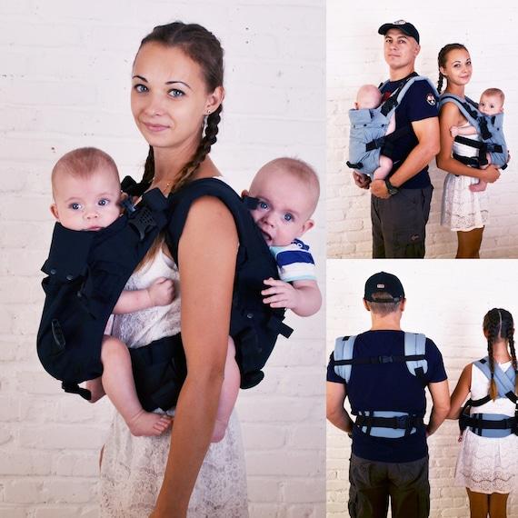 Malishastik Twin Baby Carrier Back Adapt Black Twin Wrap Etsy