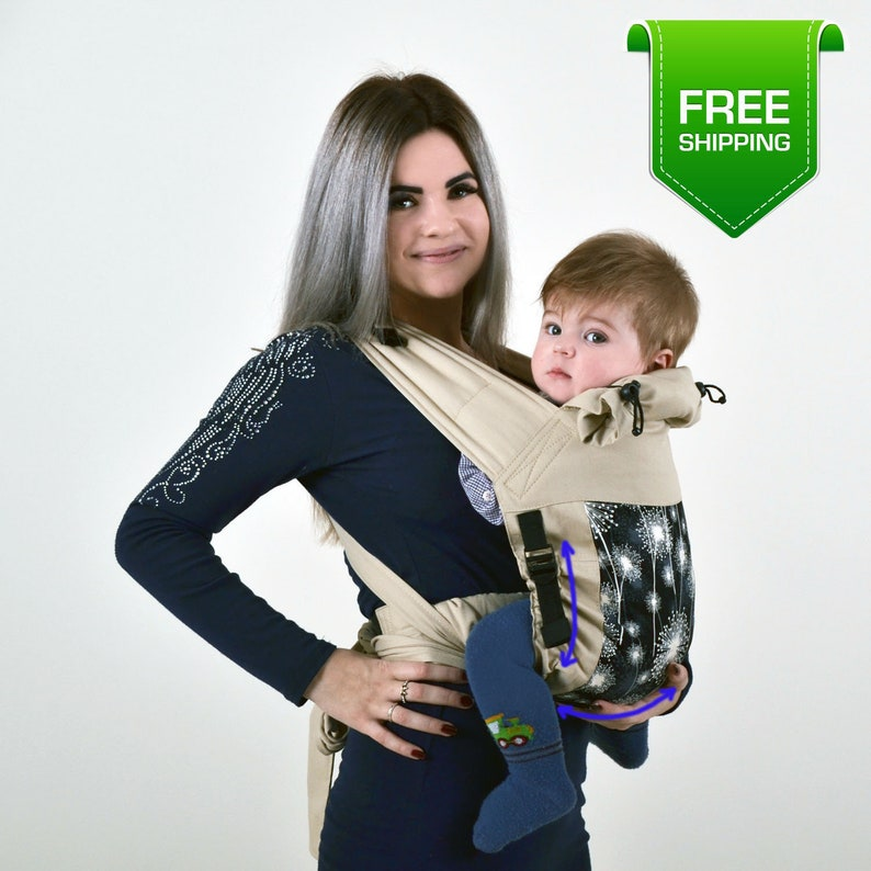 fe47b3175a1 Adjustable Mei Tai Dandelions Baby Carrier for Newborn