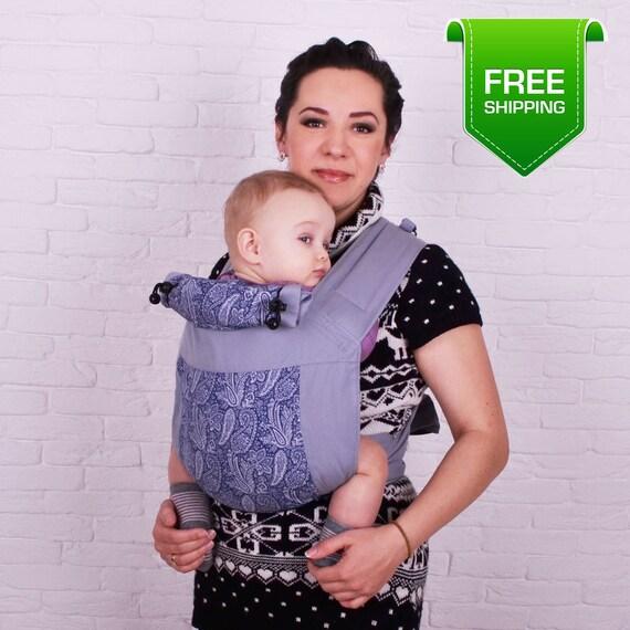 Porte-bébé Mei Tai bleu Paisley. Wrap de bébé pour nouveau-né   Etsy 8cddec5d9b3