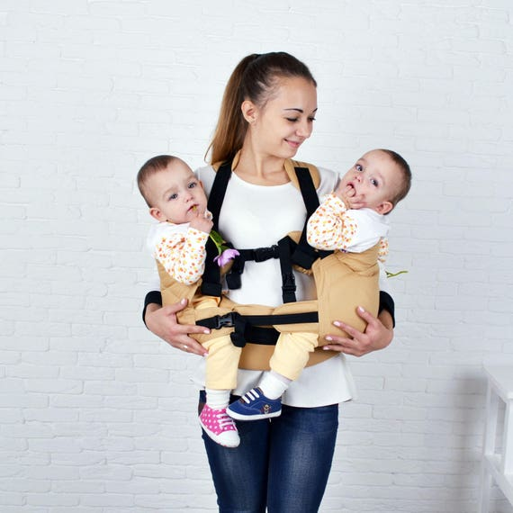 Malishastik Twins Carrier Adapt Zurück Tragen Sie Grau