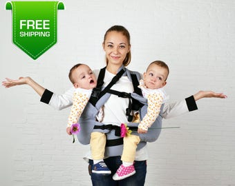 Twin Baby Carrier, Twins Carrier Tandem, Twin Wrap Carrier, Twin Carrier, Baby Twins, Baby Carrier, Twins Carrier
