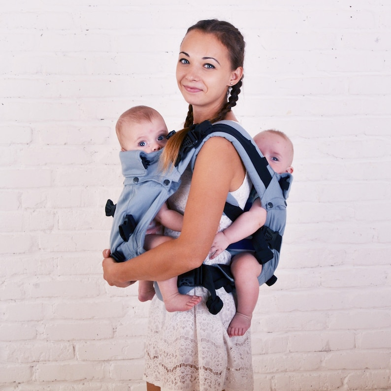 010ac9e0332 Malishastik Twins Carrier Back Adapt Gray Twin Carrier Sling