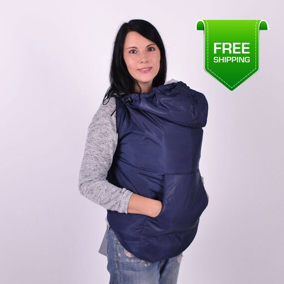 Spring Autumn Baby Carrier Cover Navy Baby Sling Cover Ergo Etsy