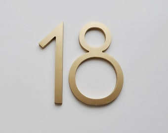"""Aluminium Numbers 4"""" (10cm) Modern House Numbers and Letters,MCM Numbers,Address, Letters Art Deco"""