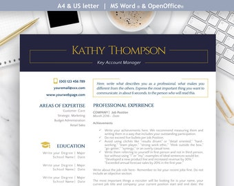 Professional Resume Template, Cover Letter, References Letter | Word & OpenOffice | Mac and PC | Icons | Linkedin Banner | MAJESTIC PRO