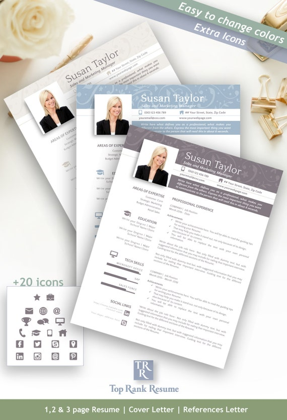 Resume Template Free Linkedin Banner Cover Letter References Letter Word Openoffice Mac And Pc Icons Tips Floral Deco