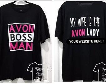 Avon/Shirt/Custom/Business/Masks/Pink/White/Logo