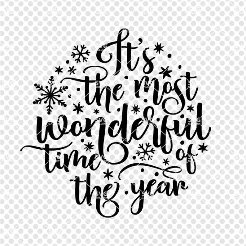 Christmas SVG It's the most wonderful time of the year image 0