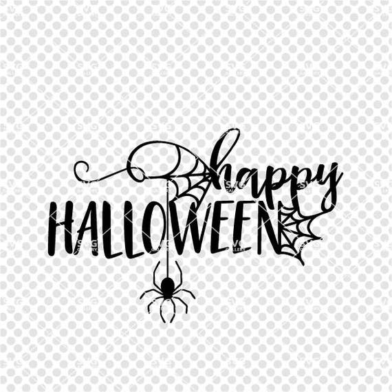 Halloween SVG happy halloween svg spooky SVG Digital cut | Etsy