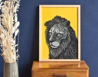 Poster Lion, A4