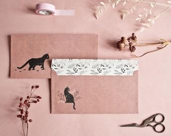 Envelope Set Cats, 10 envelopes