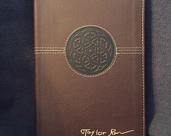 Engraved Bible personalized in YOUR handwritting-FREE SHIPPING