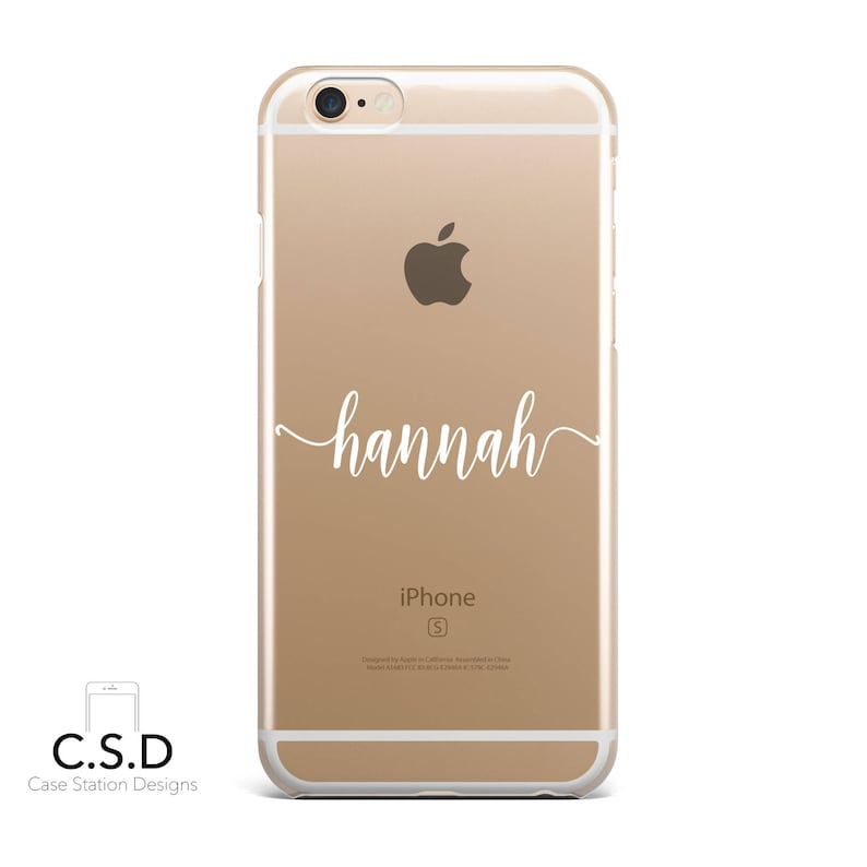 low priced 5336b ba710 Personalised Name Clear Phone Case for iPhone X 8 Plus 7, 6, 6s Cell Phone  Cover Clear and Frosted Transparent Custom MAL