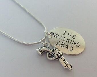 The walking dead necklace , walking dead fandom , comicon , kawaii , cute necklace , pendant , walking dead jewellery , cute
