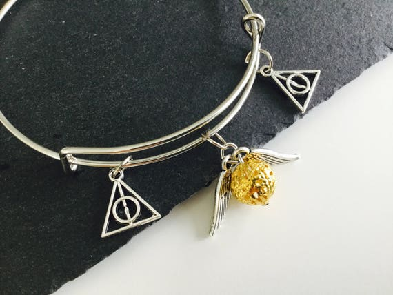 sale cute fandom jewellery golden snitch bracelet snitch etsy