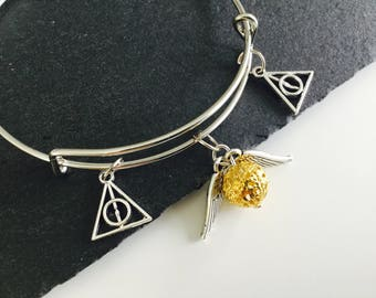 SALE  Cute fandom jewellery , golden snitch bracelet , snitch jewellery  , gifts , cute bracelet , golden snitch , kawaii