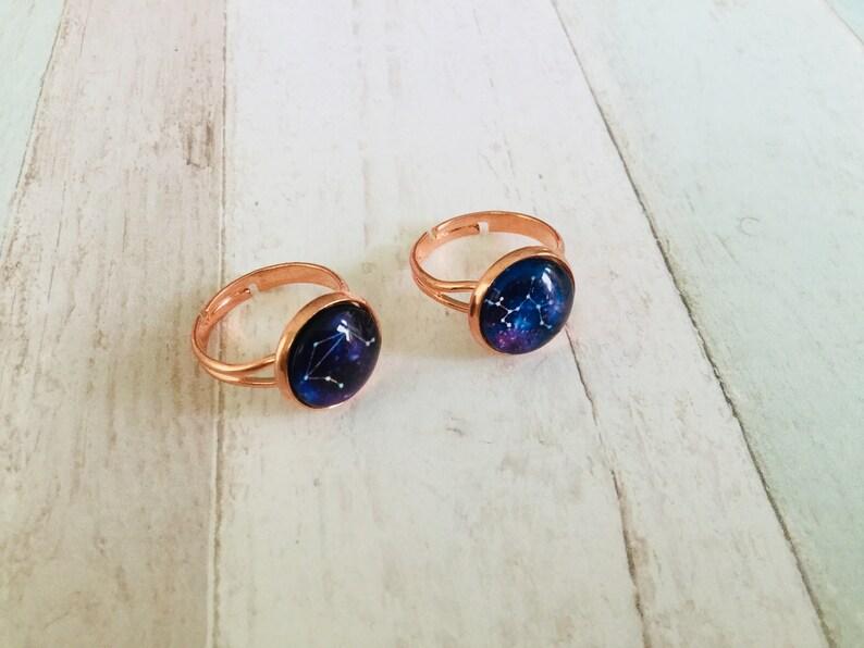kawaii galaxy ring Constellation rings Saturn ring solarsystem ring space ring zodiac ring statement ring night sky ring