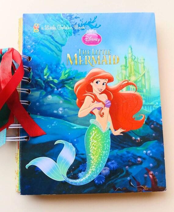 little mermaid autograph book scrapbook mini album birthday etsy