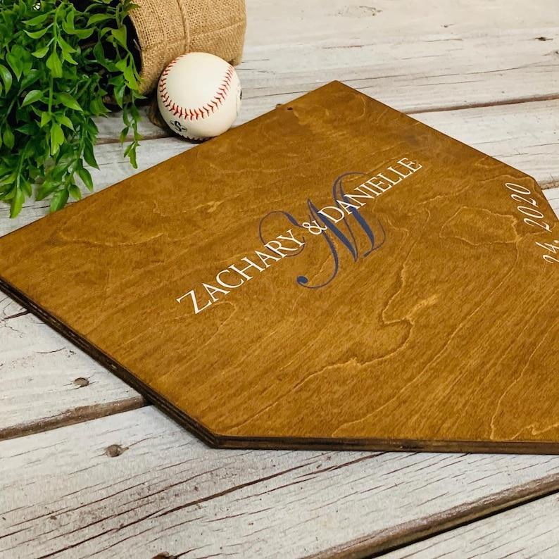 Guest book Rustic baseball wedding Baseball shower Baseball wedding Baseball wedding Home plate sign Wedding decor. Baseball theme