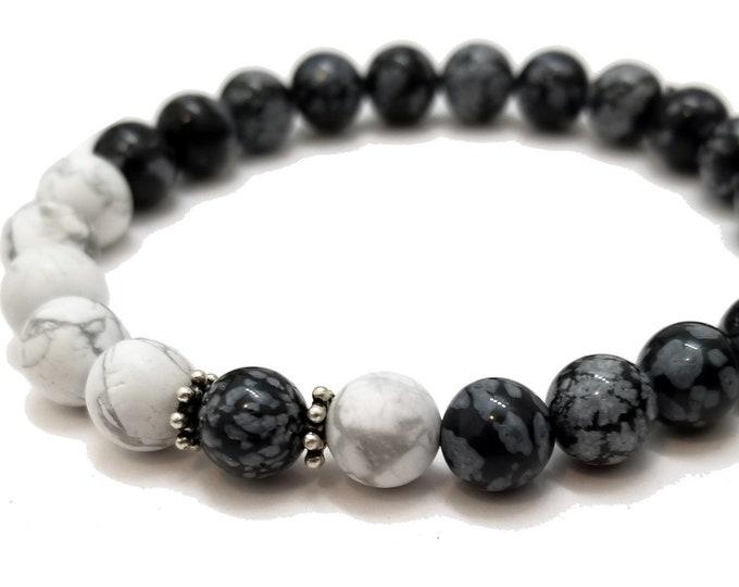 Good Energy Vibes: Inspiration + Healing Bracelet - Ruby in Zoisite & Howlite Gemstone Beads, Energy Healing Meditation Chakra Stones