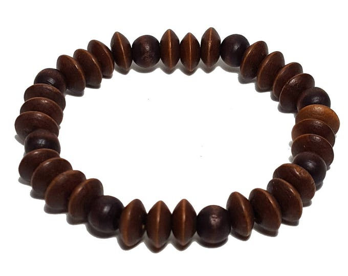 Natural Wood Bracelet: Wood Beads Bracelet, Meditation Yoga Wooden Bracelet, Casual Bracelet, Gift for Him or Her
