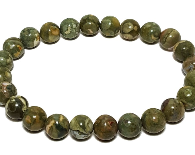 Strength + Balancing Bracelet: Rhyolite Gemstone Beads