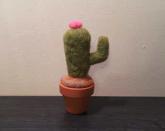 Cactus in pot - Needle Felted