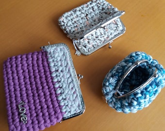 Coin purse with nozzle, handmade. Several.