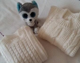 Wool sweater children 24-36 m Handmade.